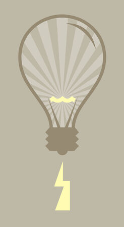 A vector illustration of a light bulb and some electricity. Stock Vector - 791597