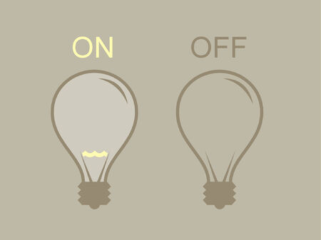 A vector illustration of two instances of a light bulb.