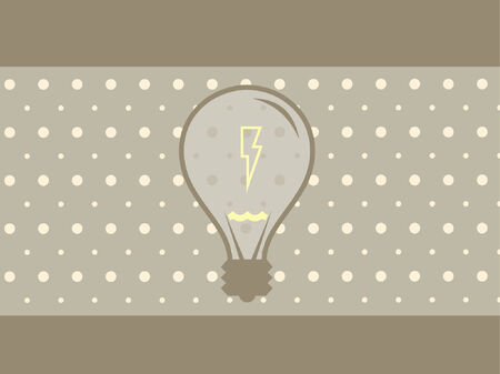 A vector illustration of a light bulb and some electricity. Vector