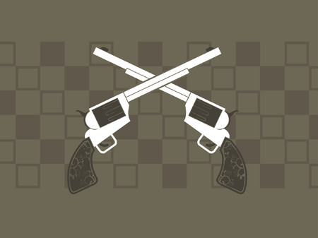 grafix: Two revolver guns crossed against a background.