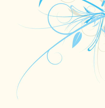 scattering: A vector floral design against a solid background.