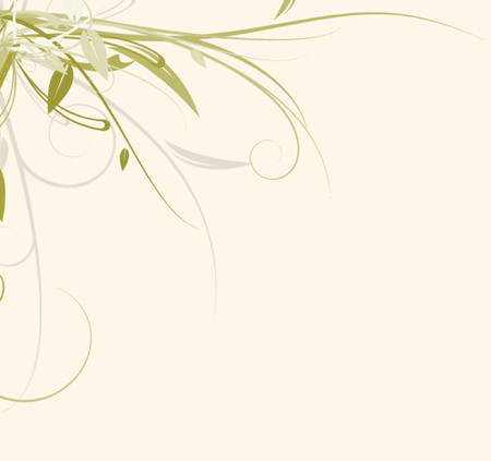 A vector floral design against a solid background.