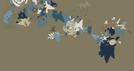 A complex vector illustration with organic abstract qualities and decorations.