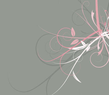 A complex and colorful sleek vector floral design.