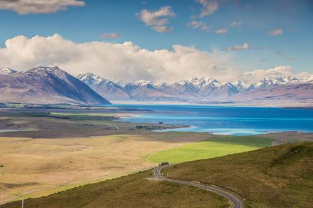 Beautiful Lake Tekapo view from Mt John, South Island, New Zealand