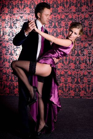 tangoing: Fashion shot of a Young Couple a trendy european couple Stock Photo