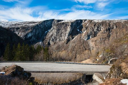 A road leading to the national park of Norway