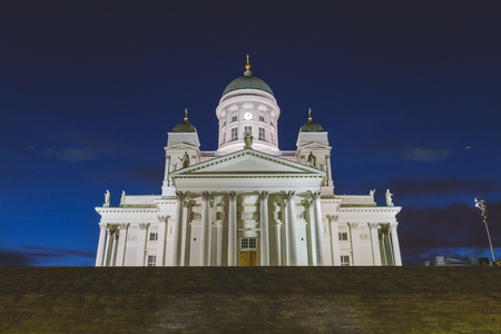 helsinki: Helsinki cathedral at night Stock Photo