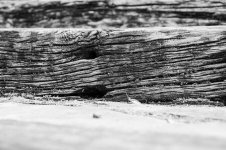 A step made in wood with its natural defects