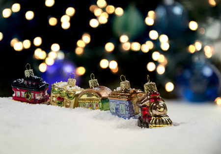 Little Train Ornaments Stock Photo