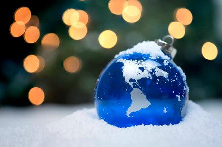 snow globe: Christmas Ornament Stock Photo