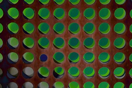 Abstract array of polka dots Stock Photo