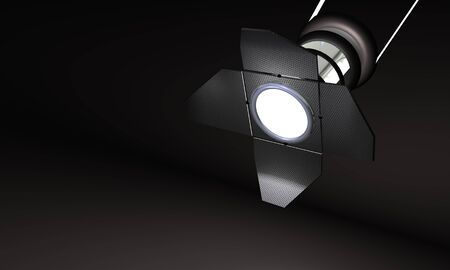 Studiolight on black Background