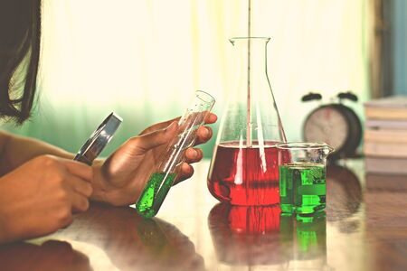 phon: Chemistry experimentsdistrict Phon phisai Nong Khai Thailand,February 5 2017 junior high school students. Experimental Chemistry (submit for editorial )