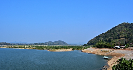 loei: Mekong river in the summer season at Pakchom District,Loei Province, Thailand.