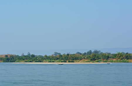 River banks and beaches with clear sky in the day.
