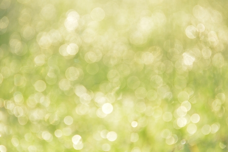 gold textured background: Bokeh caused by dew on top of green grass.