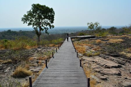 Many viewpoints in tourist spots tend to create trails for tourists to walk in and watch nature.