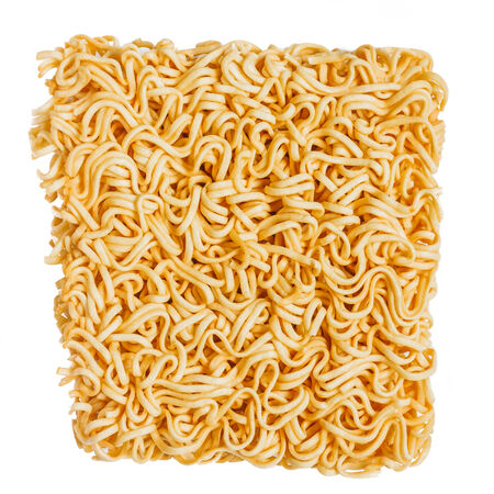 asian ramen instant noodles isolated on white background photo