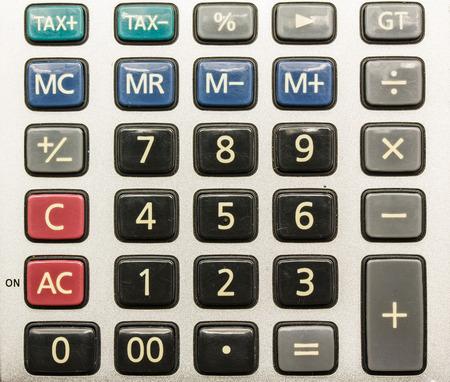 numpad: numpad of calculator Stock Photo