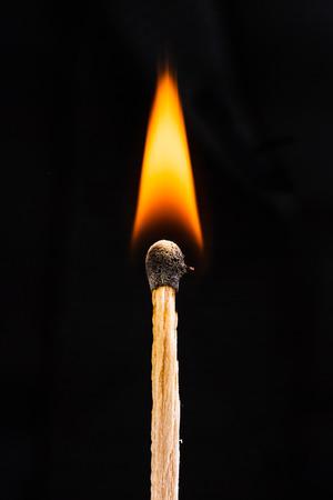 matchstick: macro shot of flaming matchstick