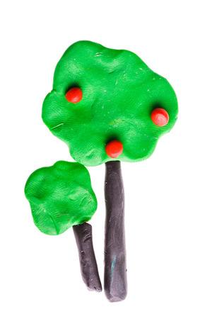 plasticine: tree from plasticine Stock Photo