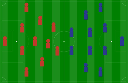 football coach: soccer field or football field