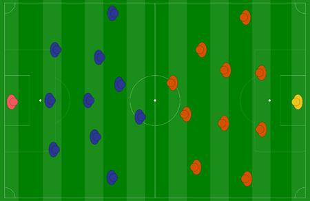 soccer coach: soccer field or football field