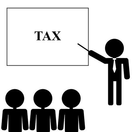 tax office: Businessman Training Staff