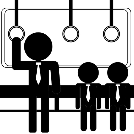 zakenman in metro
