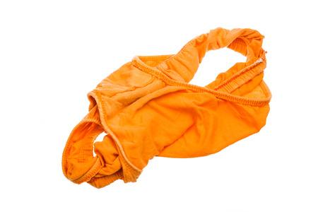 orange men underwear isolated on white background Stock Photo