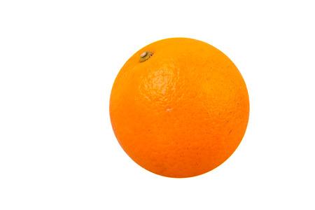 valencia orange or navel orange with white isolated background