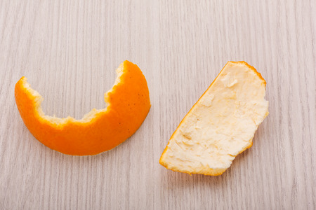 peel of valencia orange or navel orange Stock Photo