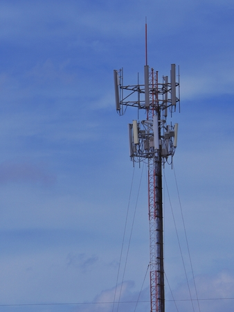 mobile phone communication tower transmission signal