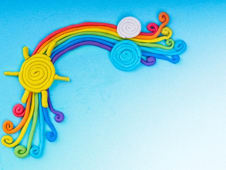 regenboog maken van plasticine