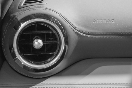 close up of air conditioner in car,Automobile detail.