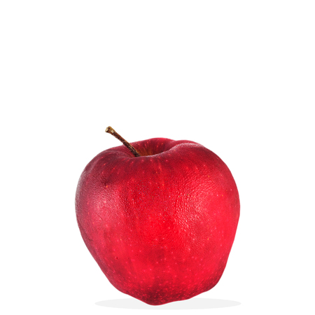 Ripe red apple. isolated on white background