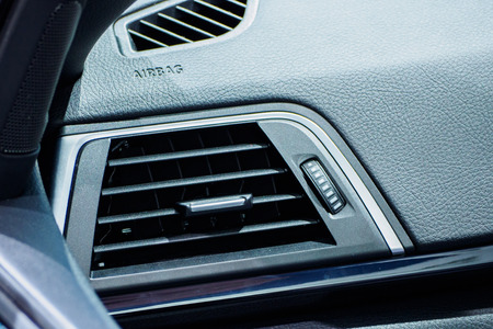 close up of air conditioner in car,Automobile detail. Banco de Imagens - 101540396