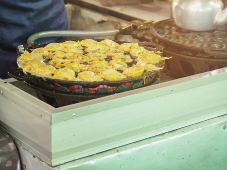 Thai Pan Fried Seafood Omelette most popular street food in THAILAND
