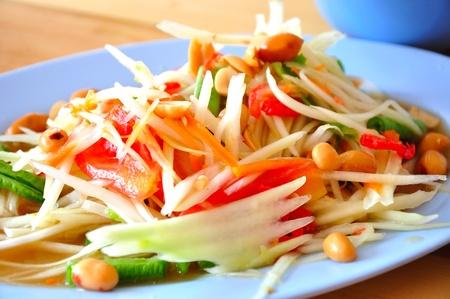 somtum: Somtum Thai food Stock Photo