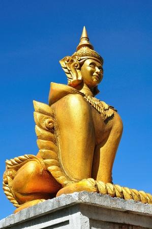 Semi human in thai temple