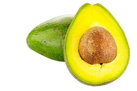 Avocado on white background photo