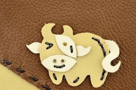 buey: buey, hecha a mano de cuero