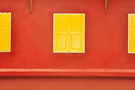 traditional thai style yellow window Stock Photo - 11117380
