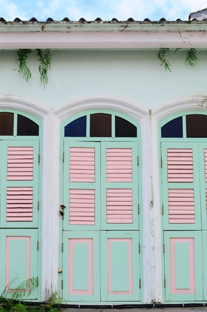 the traditional thai style window Stock Photo - 11117375