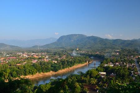 viewpoint at luang prabang, laos Stock Photo