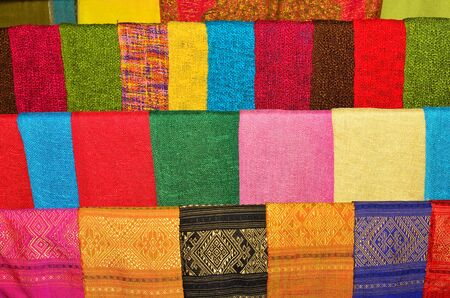 hand woven: handmade woven fabric in thai