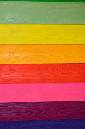 Colorful wall from wood plate for background photo