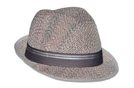 beautiful hat isolated on white background photo