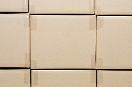 Stack of carton boxes package for background Stock Photo - 13220894